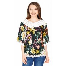 Bluza casual cu imprimeu floral TW788 NG