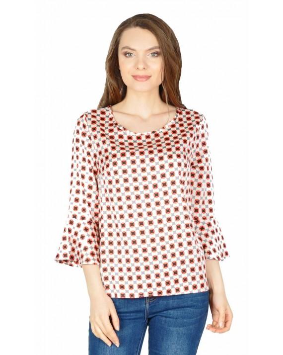 Bluza casual cu imprimeu geometric S101153 R