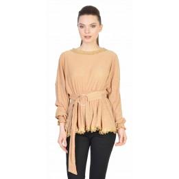 Bluza casual galbena cu striatii 8395 G