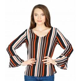 Bluza din voal cu dungi colorate BC157