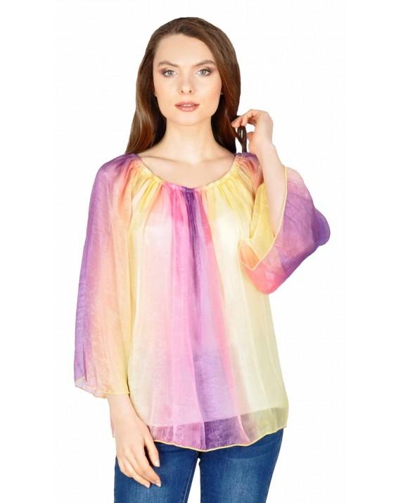 Bluza eleganta din vascoza in degrade 3020