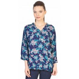 Camasa bleumarin casual cu imprimeu floral L097 BM