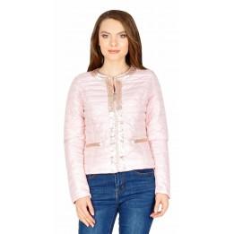 Jacheta casual roz cu paiete 17100 R