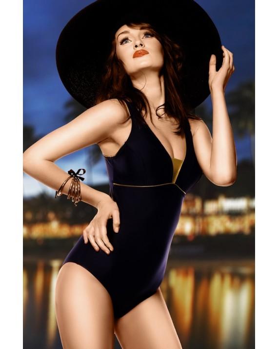 Costum de baie Anika - negru intreg