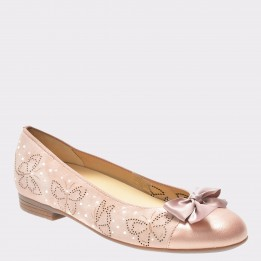 Balerini ARA roz, 31306, din piele intoarsa