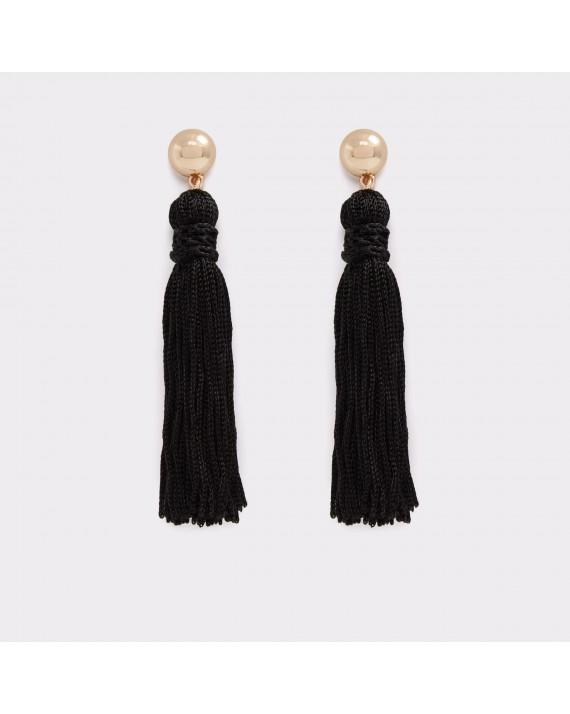Cercei ALDO negri, Baerien, din material textil