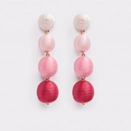 Cercei ALDO roz, Elenawia, din material textil