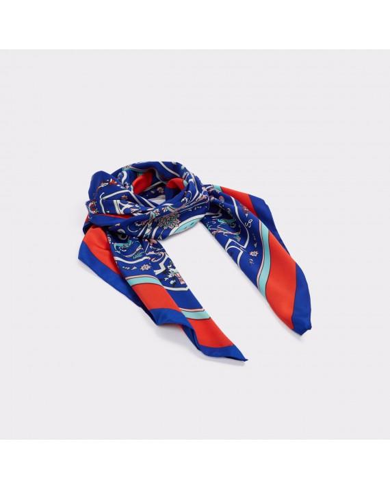Esarfa ALDO albastra, Poovey, din material textil