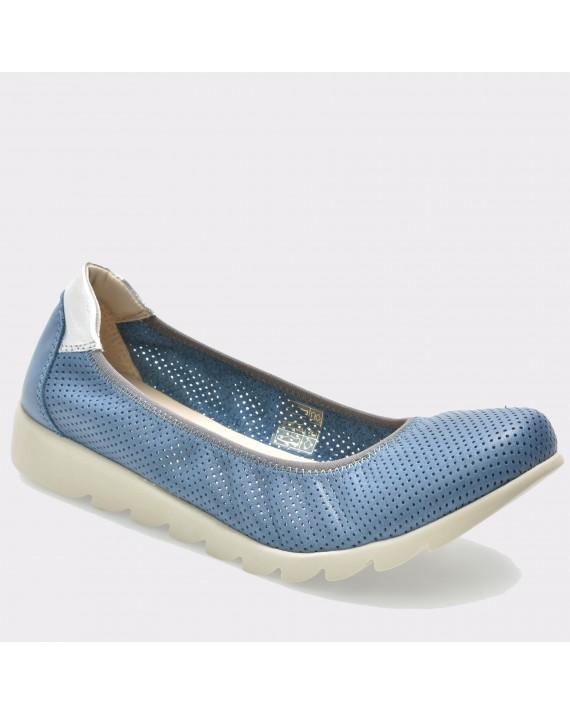 Espadrile THE FLEXX albastre, Onthetr, din piele naturala
