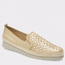 Espadrile THE FLEXX aurii, Chapter, din piele naturala
