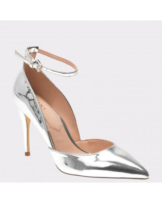 Pantofi ALDO argintii, Laycey, din piele ecologica