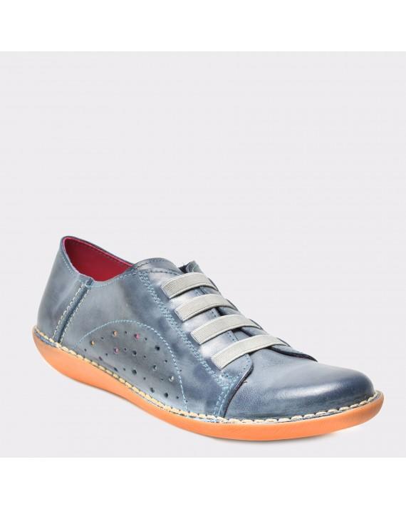 Pantofi bleumarin, 4004, din piele naturala