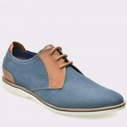 Pantofi BUGATTI albastri, 45102, din piele intoarsa