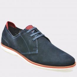 Pantofi BUGATTI bleumarin, 45103, din piele intoarsa