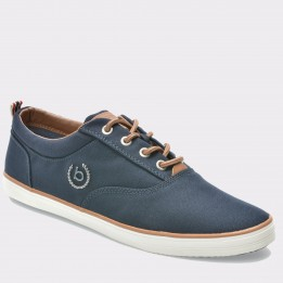 Pantofi BUGATTI bleumarin, F4813, din material textil