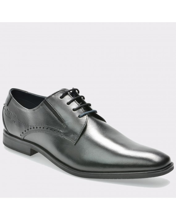 Pantofi BUGATTI negri, R0208, din piele naturala