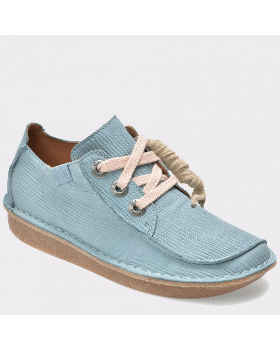 Pantofi CLARKS albastri, 6132344, din nabuc