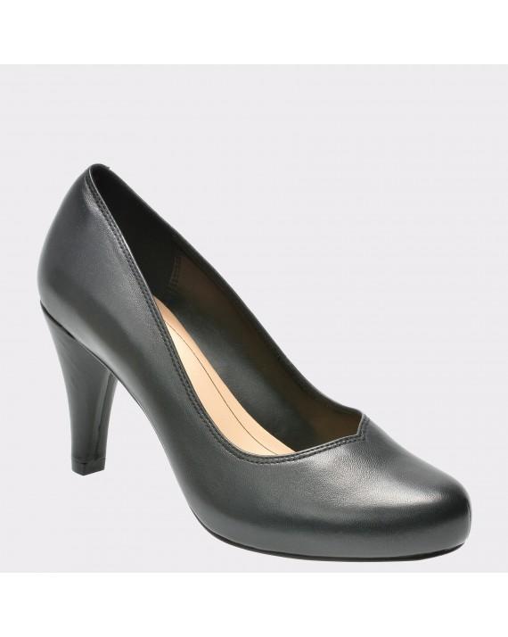 Pantofi CLARKS negri, 6132261, din piele naturala