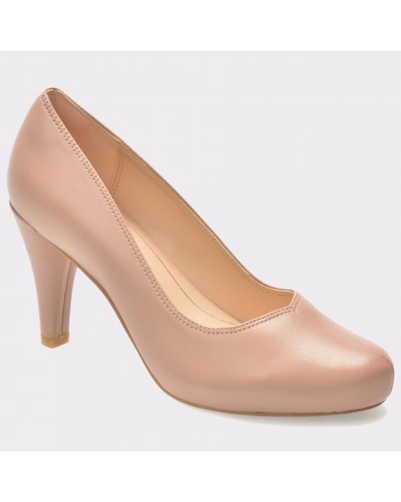 Pantofi CLARKS nude, 6132266, din piele naturala