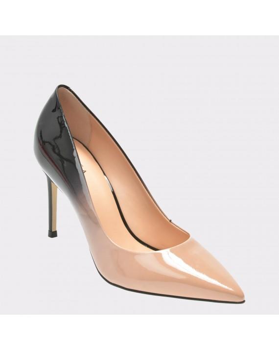Pantofi EPICA negri, 73078, din piele naturala lacuita