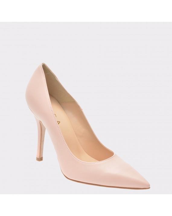 Pantofi EPICA nude, 103, din piele naturala