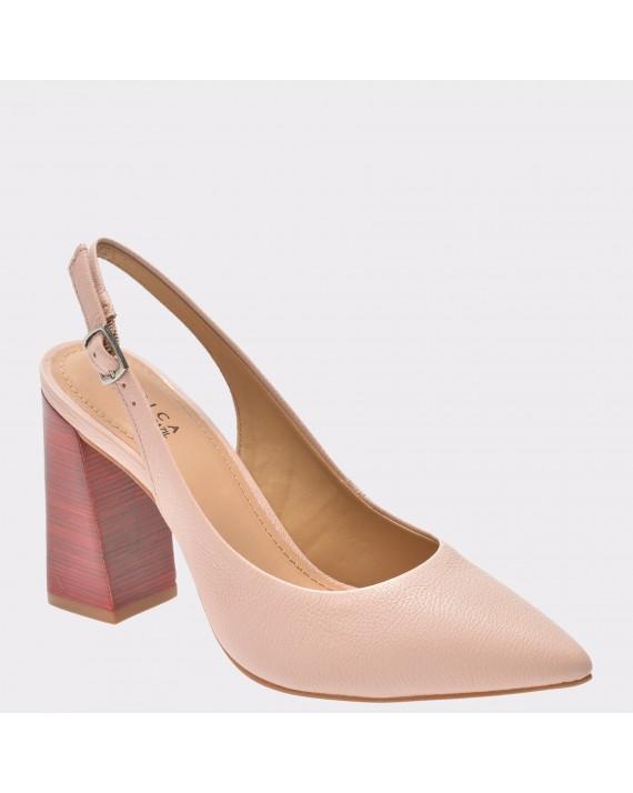 Pantofi EPICA nude, Valeria, din piele naturala