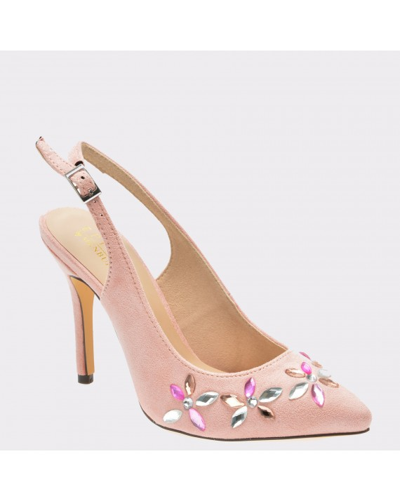 Pantofi EPICA roz, R9413, din piele ecologica
