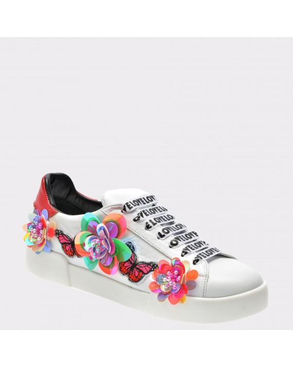 Pantofi FLAVIA PASSINI albi, 3361840, din piele naturala
