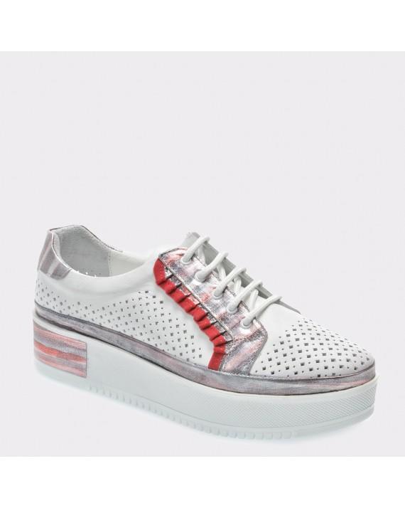 Pantofi FLAVIA PASSINI albi, Mt534, din piele naturala