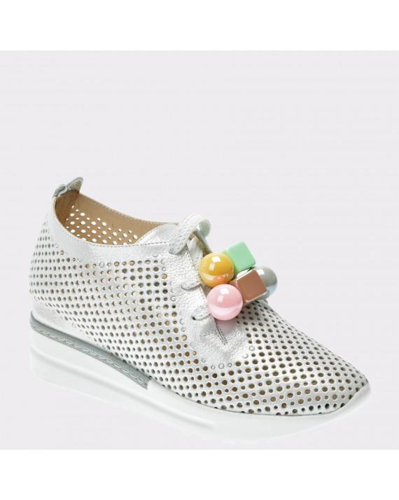Pantofi FLAVIA PASSINI argintii, 2851626, din piele naturala