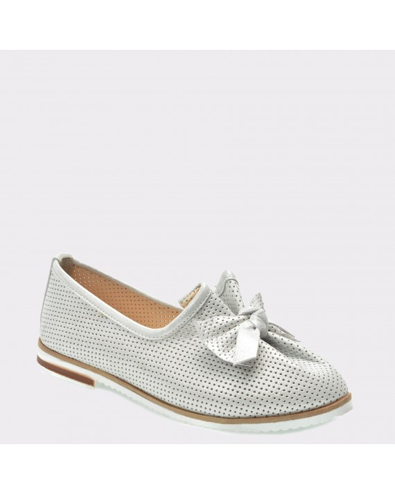 Pantofi FLAVIA PASSINI argintii, 70126, din piele naturala
