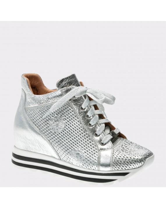 Pantofi FLAVIA PASSINI argintii, Ds0311, din piele naturala