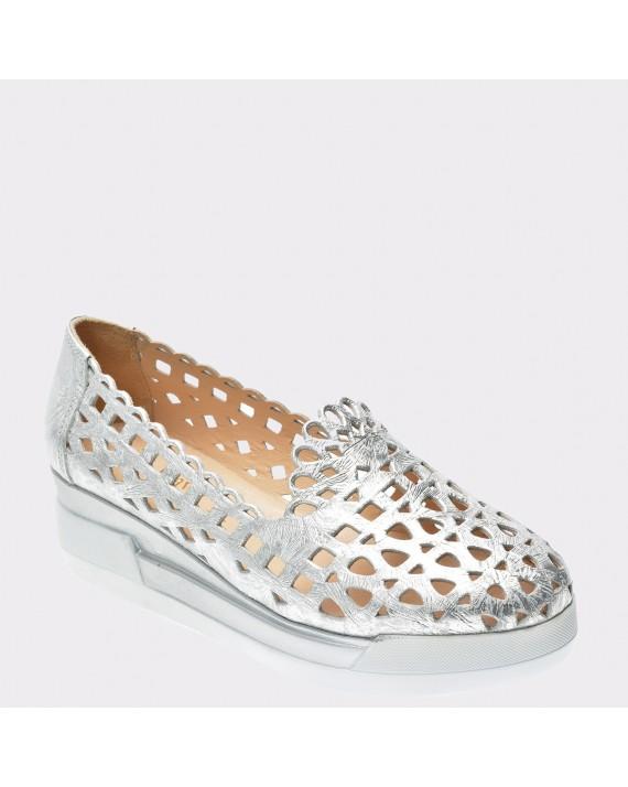 Pantofi FLAVIA PASSINI argintii, Pia283, din piele naturala