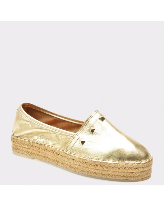 Pantofi FLAVIA PASSINI aurii, 2009, din piele naturala
