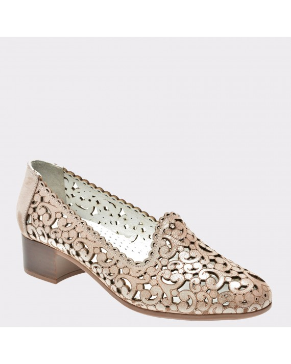 Pantofi FLAVIA PASSINI aurii, Pd2107, din piele naturala