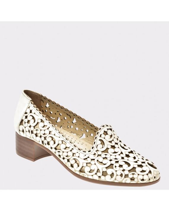 Pantofi FLAVIA PASSINI crem, Pd2107, din piele naturala