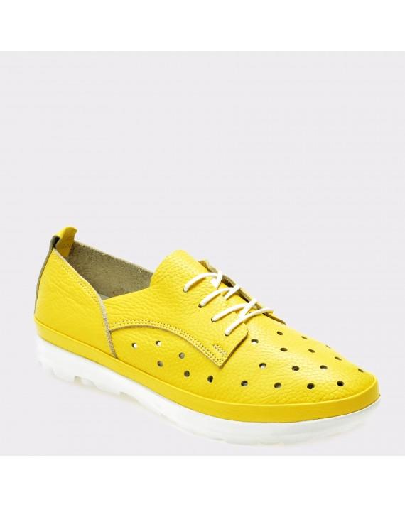 Pantofi FLAVIA PASSINI galbeni, 530, din piele naturala