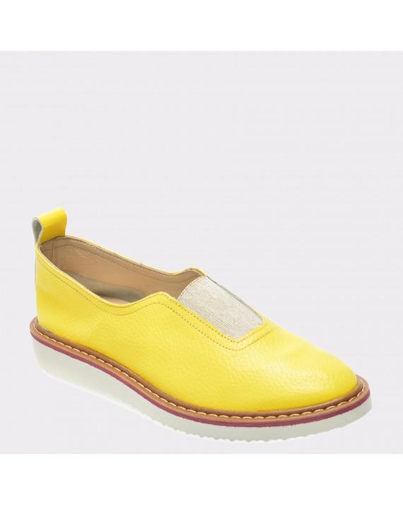 Pantofi FLAVIA PASSINI galbeni, 715, din piele naturala