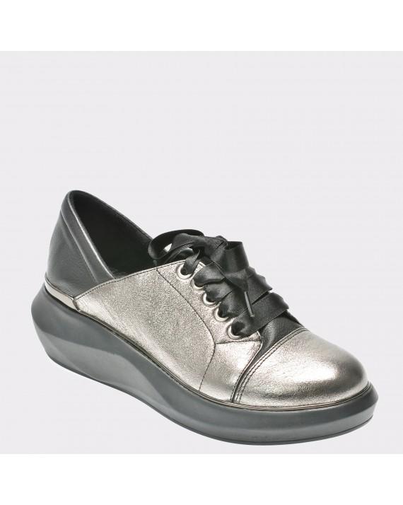 Pantofi FLAVIA PASSINI gri, Dm1803, din piele naturala