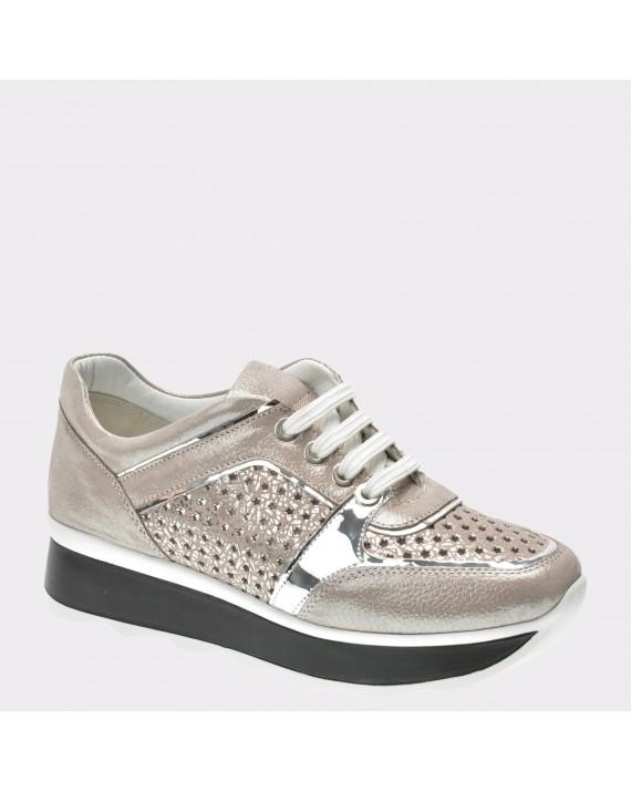 Pantofi FLAVIA PASSINI gri, Ela371, din piele naturala