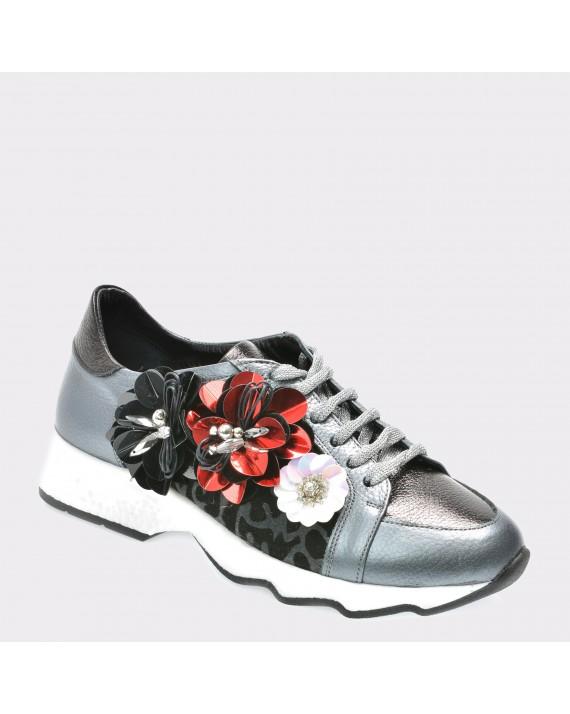 Pantofi FLAVIA PASSINI gri, Gm1037, din piele naturala