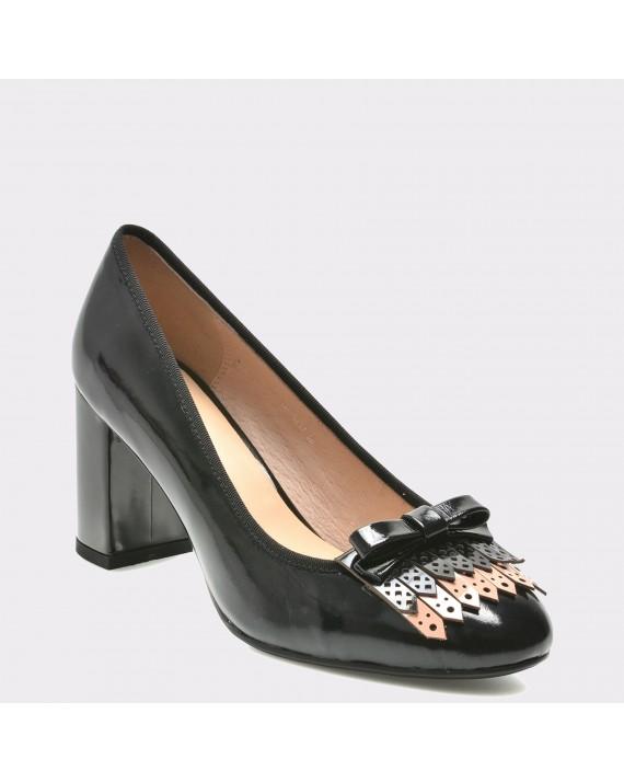 Pantofi FLAVIA PASSINI negri, 5237, din piele naturala lacuita