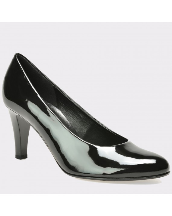 Pantofi GABOR negri, 75210, din piele ecologica lacuita