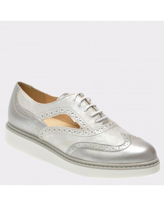 Pantofi GEOX argintii, D824Ba, din piele ecologica