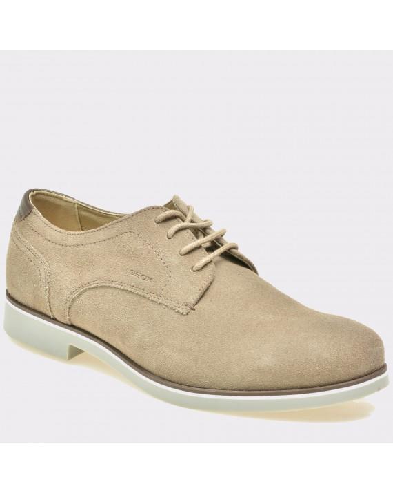Pantofi GEOX bej, U620Tc, din piele intoarsa