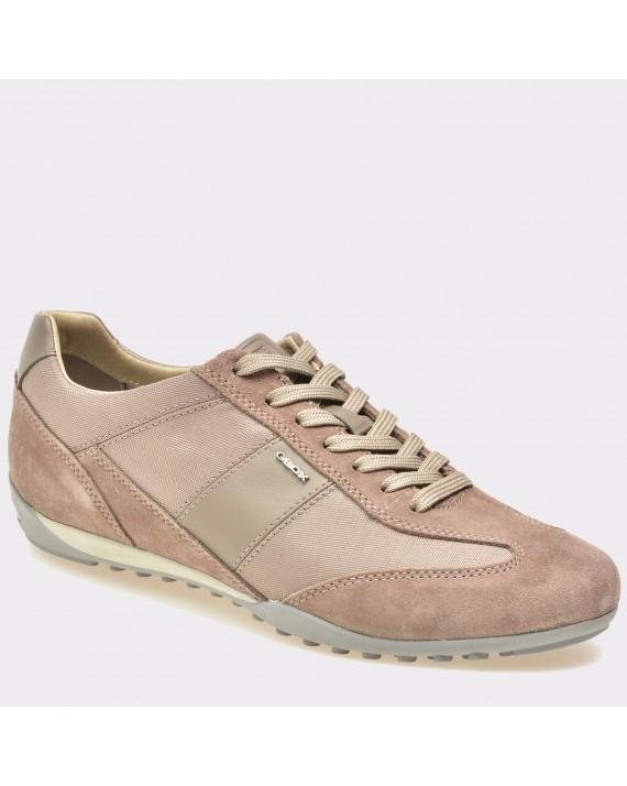 Pantofi GEOX bej, U74T5A, din piele intoarsa