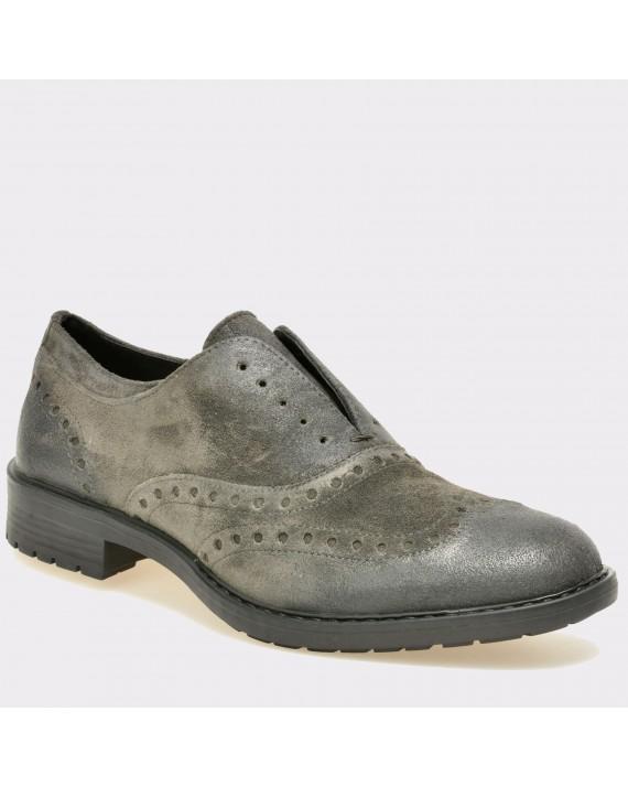 Pantofi GEOX gri, U743Pa, din piele intoarsa