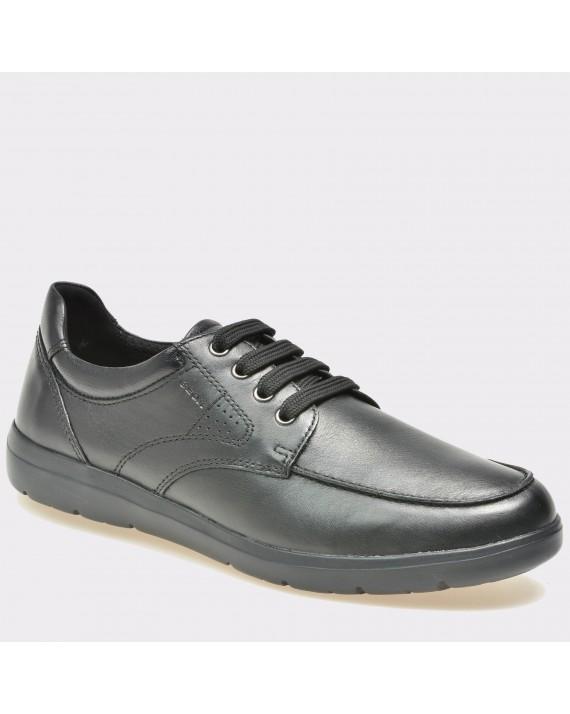 Pantofi GEOX negri, U743Qb, din piele naturala