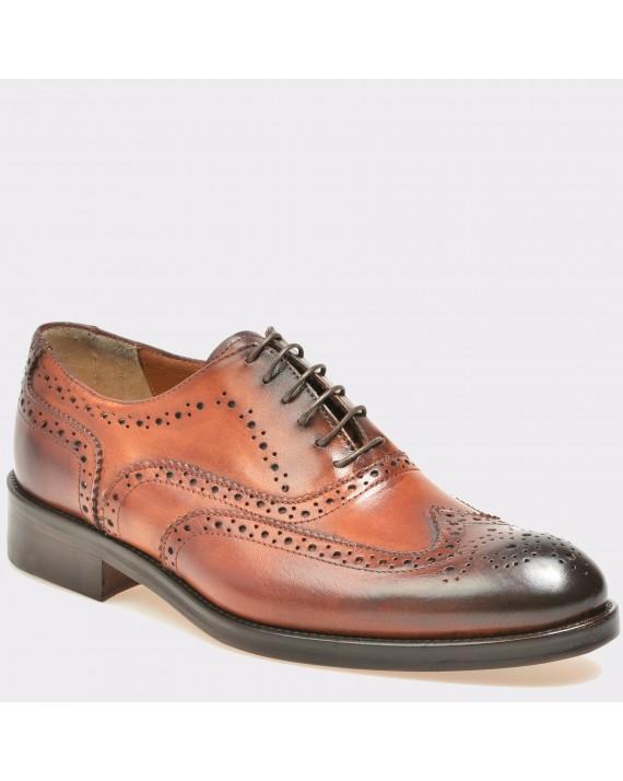 Pantofi maro, T115, din piele naturala