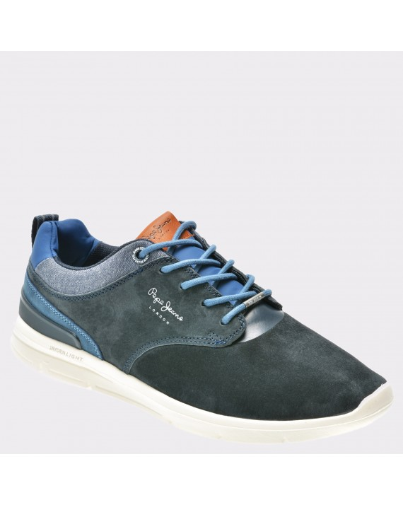 Pantofi PEPE JEANS bleumarin, Ms30409, din piele naturala
